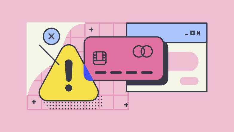 Ilustração de clipart de erro de pagamento em PNG e SVG