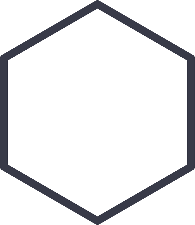hexagon shape Clipart illustration in PNG, SVG