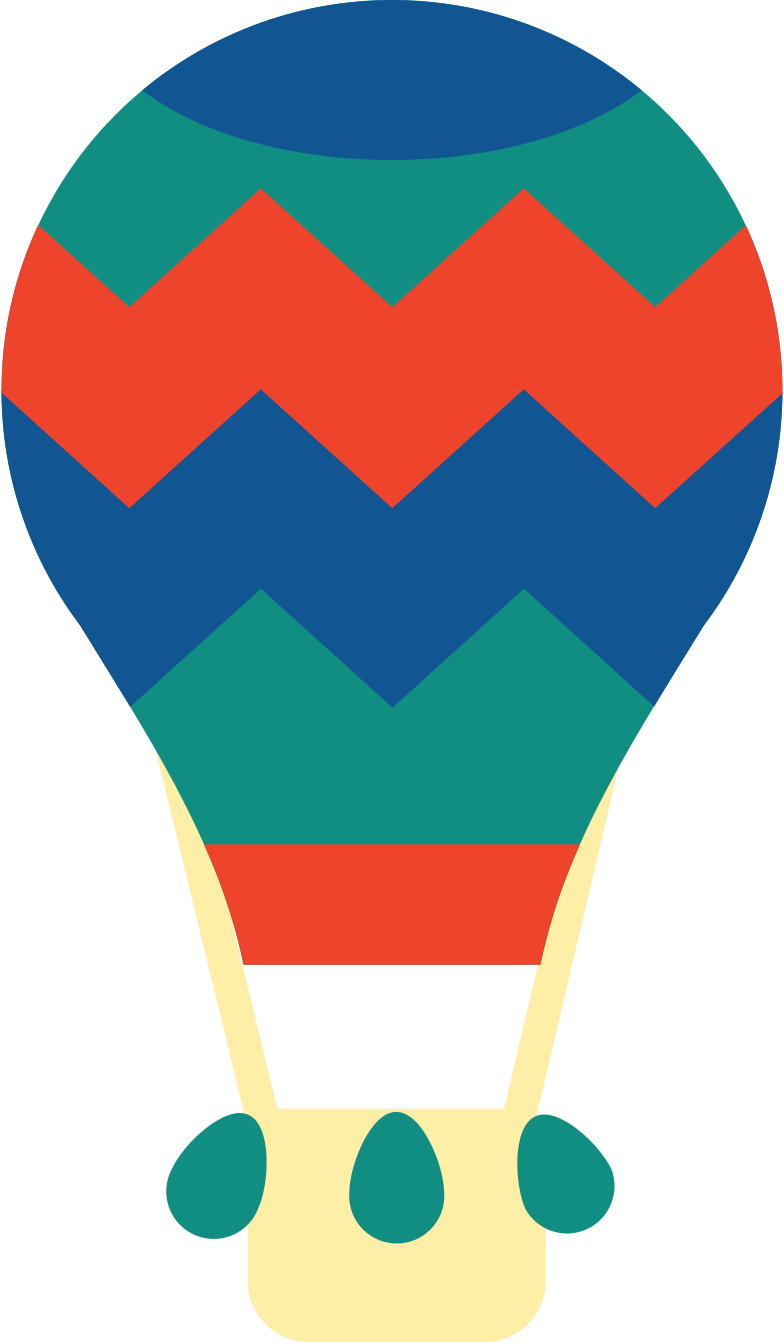 hot air baloon Clipart illustration in PNG, SVG