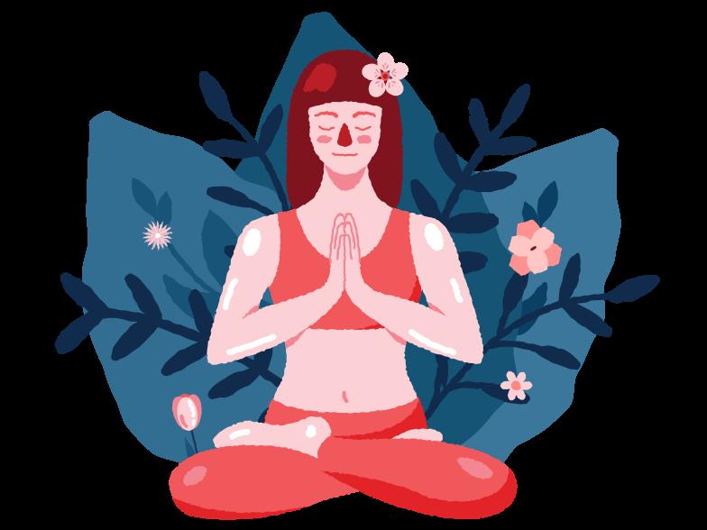 Meditation Clipart illustration in PNG, SVG