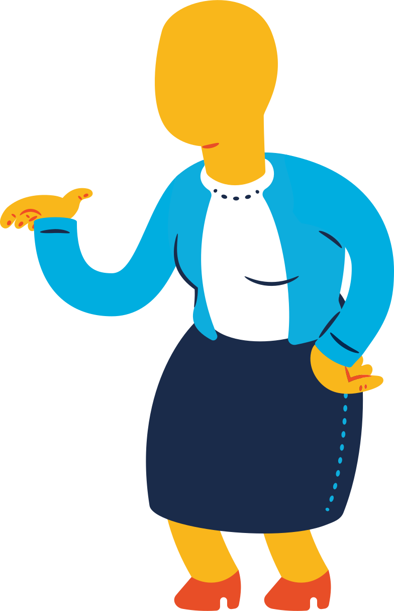 old woman standing Clipart illustration in PNG, SVG