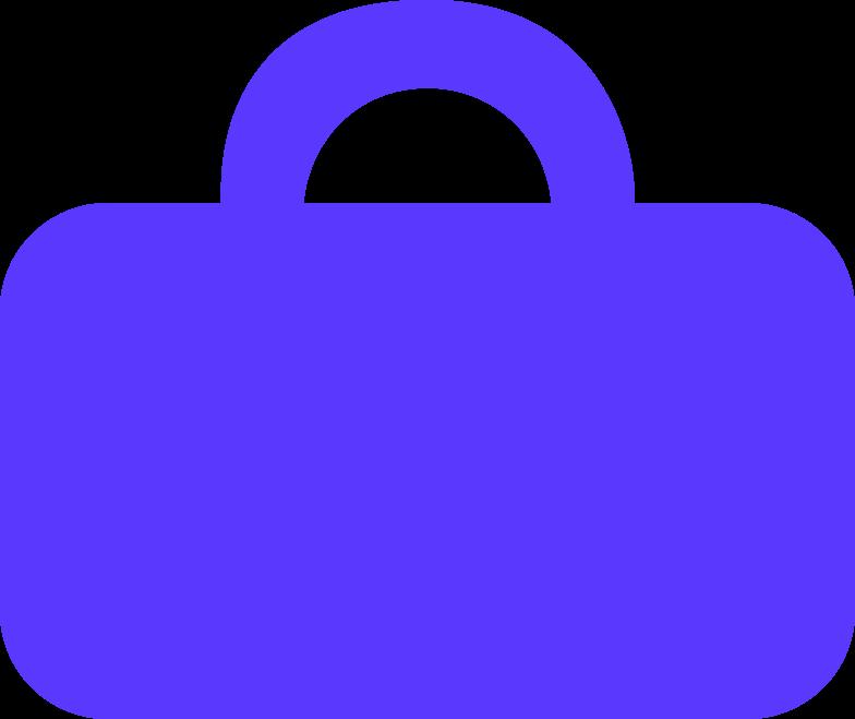 brief case color Clipart illustration in PNG, SVG