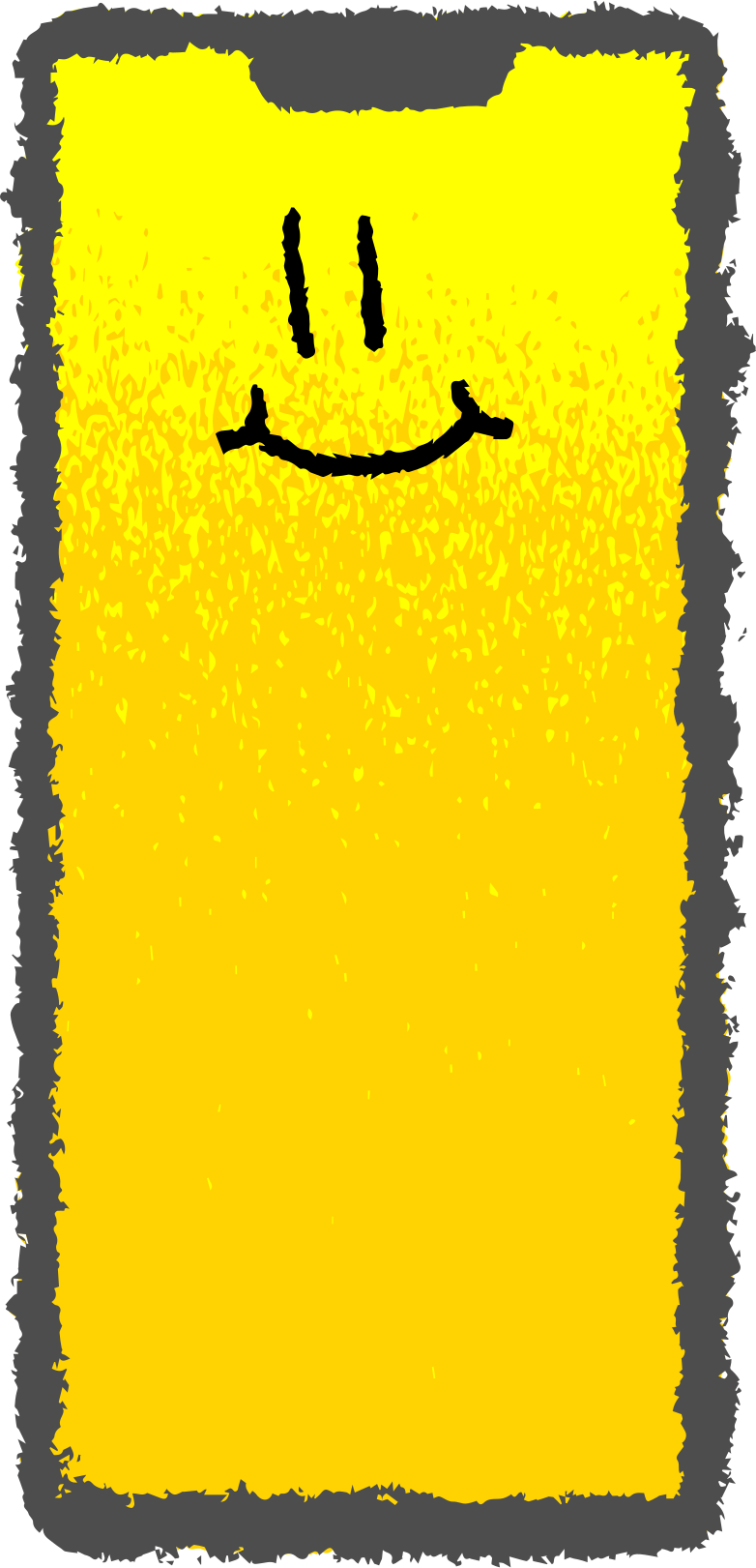 smartphone face Clipart illustration in PNG, SVG