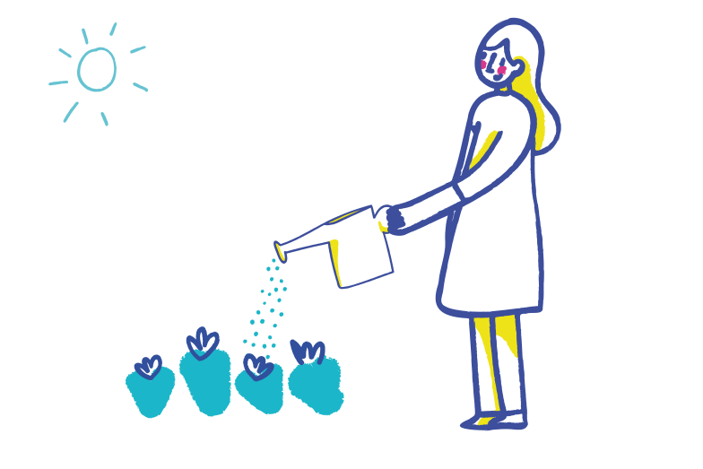 style Watering flowers Vector images in PNG and SVG | Icons8 Illustrations