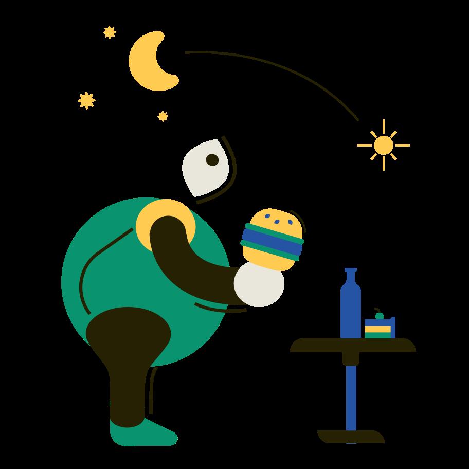 Food addiction Clipart illustration in PNG, SVG
