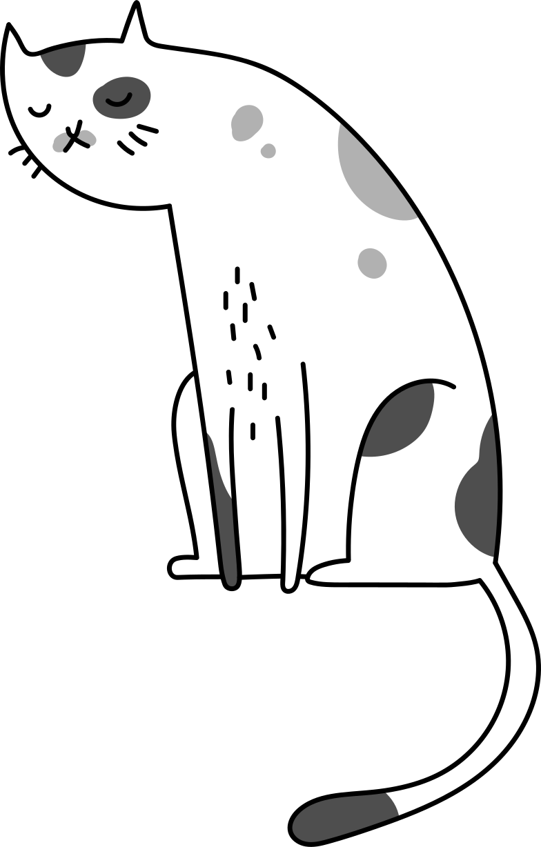 sitting cat Clipart illustration in PNG, SVG