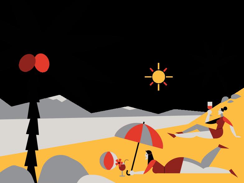 Resort Clipart-Grafik als PNG, SVG