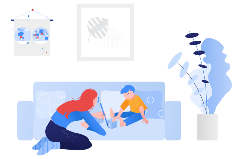 Playing with the kid Clipart illustration in PNG, SVG