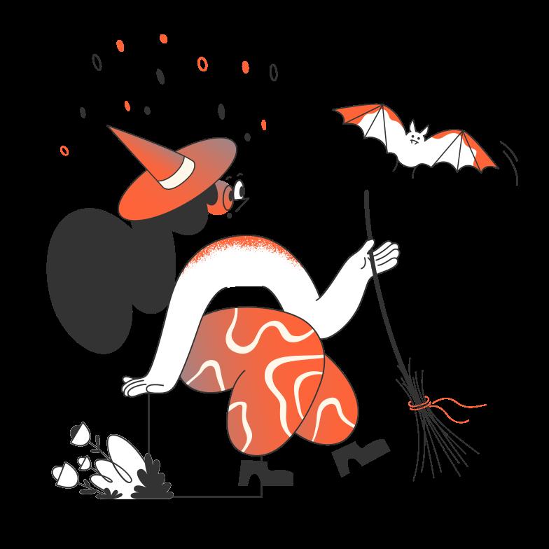 Immagine Vettoriale Strega con mazza in PNG e SVG in stile  | Illustrazioni Icons8