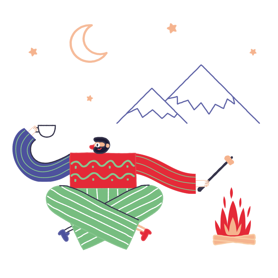 Camping trip Clipart illustration in PNG, SVG