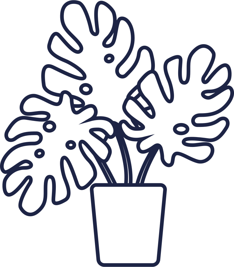 welcome  plant small line Clipart illustration in PNG, SVG