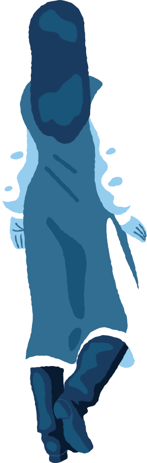 woman standing back Clipart illustration in PNG, SVG