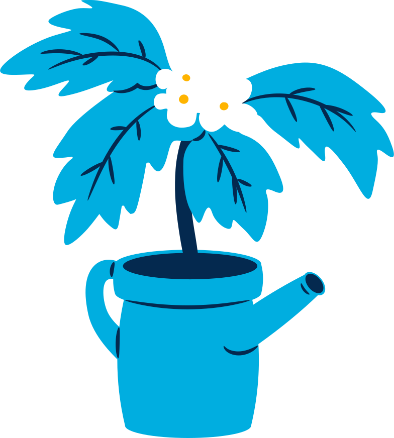 potted tree with flowers Clipart illustration in PNG, SVG