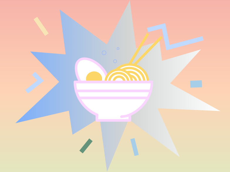 Super Noodles! Clipart illustration in PNG, SVG