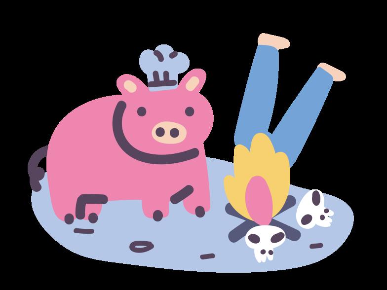 シェフの豚 のPNG、SVGクリップアートイラスト
