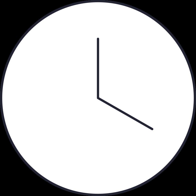 freelance  clock Clipart illustration in PNG, SVG
