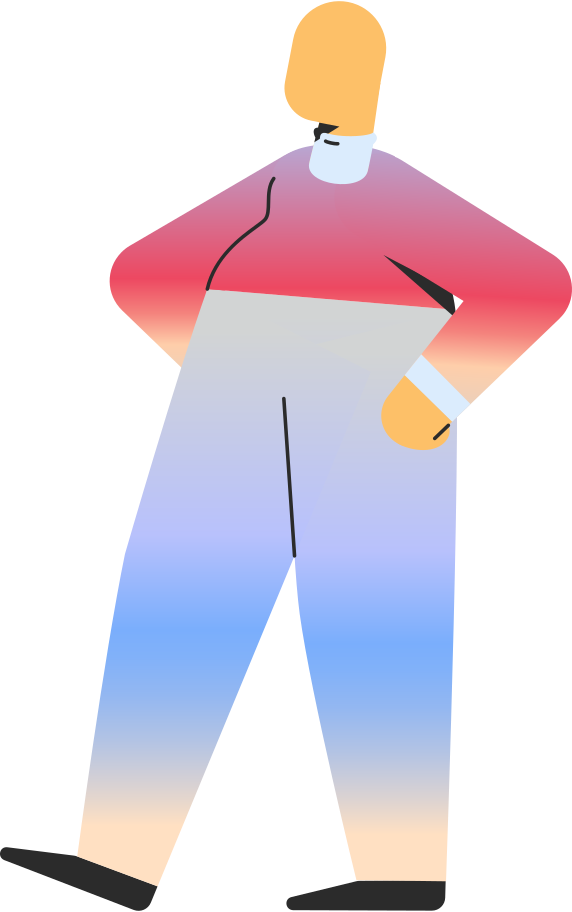 chubby adult standing Clipart illustration in PNG, SVG