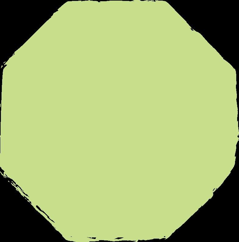 octagon-light-green Clipart illustration in PNG, SVG