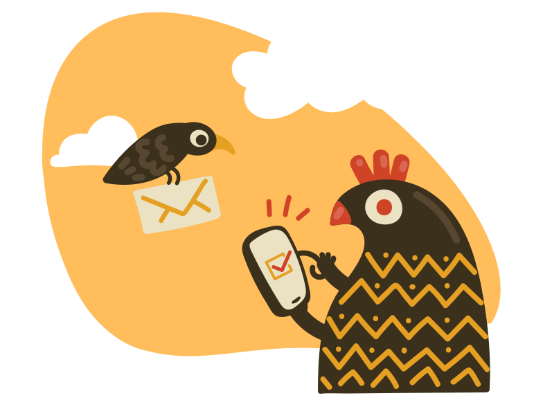 Message received Clipart illustration in PNG, SVG