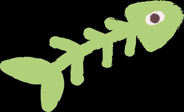 fish skeleton Clipart illustration in PNG, SVG