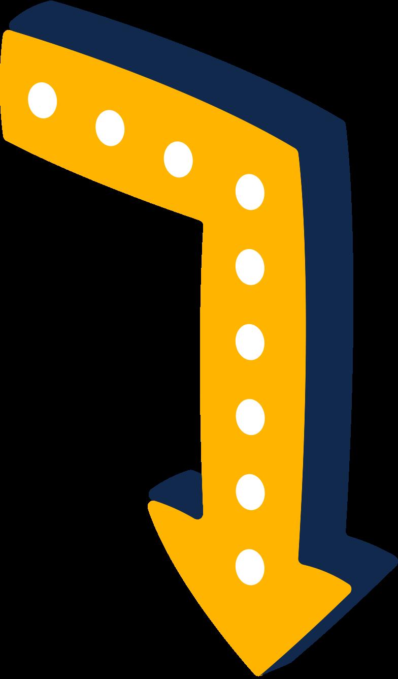 Illustration clipart Signe de la flèche aux formats PNG, SVG