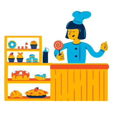 style Welcome to the bakery images in PNG and SVG | Icons8 Illustrations