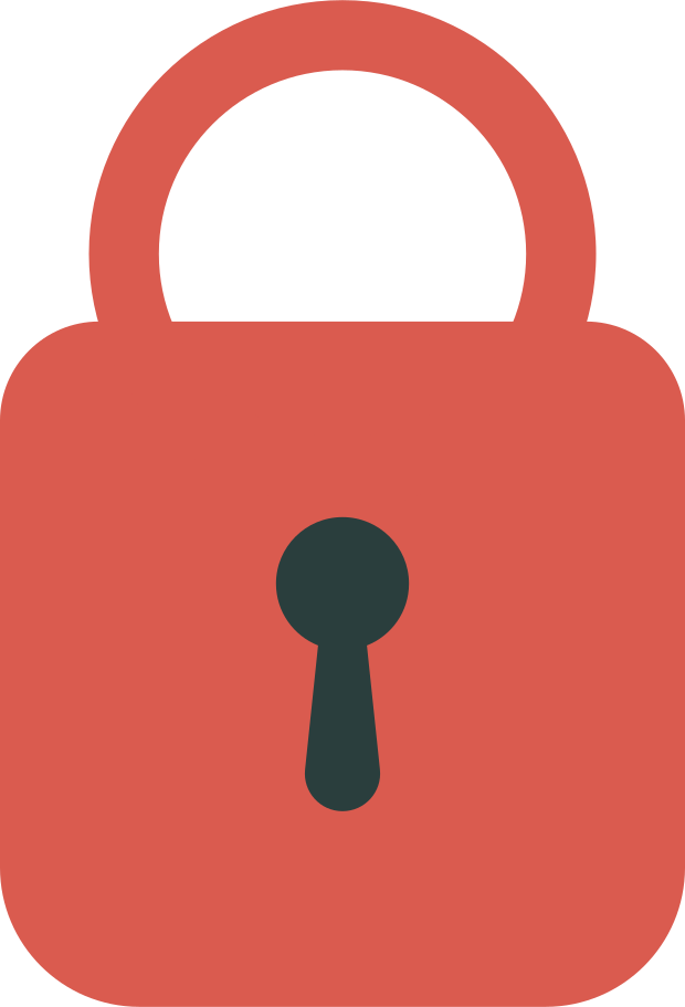closed lock Clipart illustration in PNG, SVG