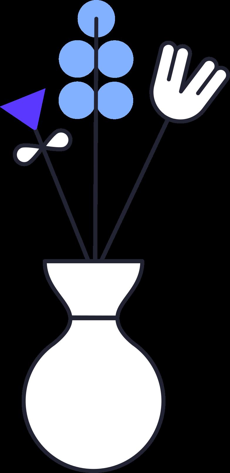 Familienblumen in vase Clipart-Grafik als PNG, SVG