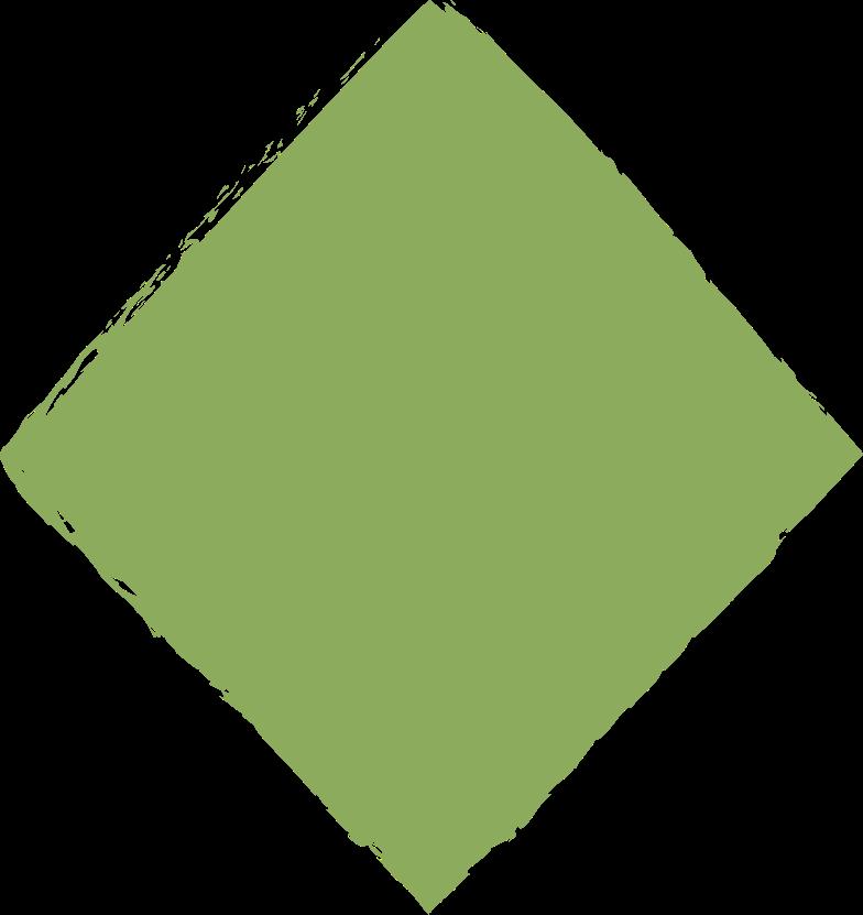 rhombus-dark-green Clipart illustration in PNG, SVG