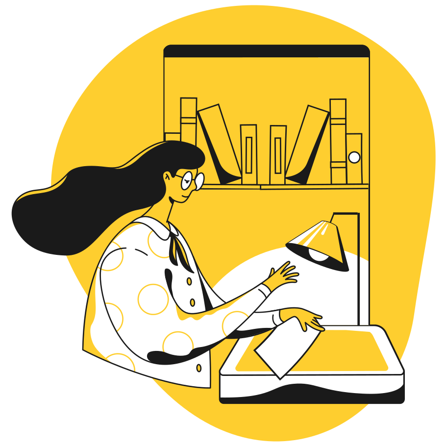 Librarian Clipart illustration in PNG, SVG