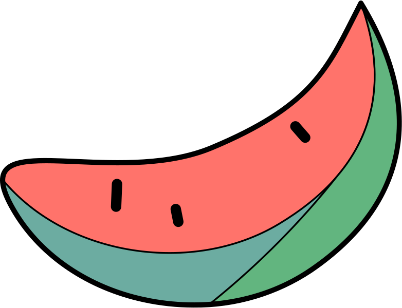 slice of watermelon Clipart illustration in PNG, SVG