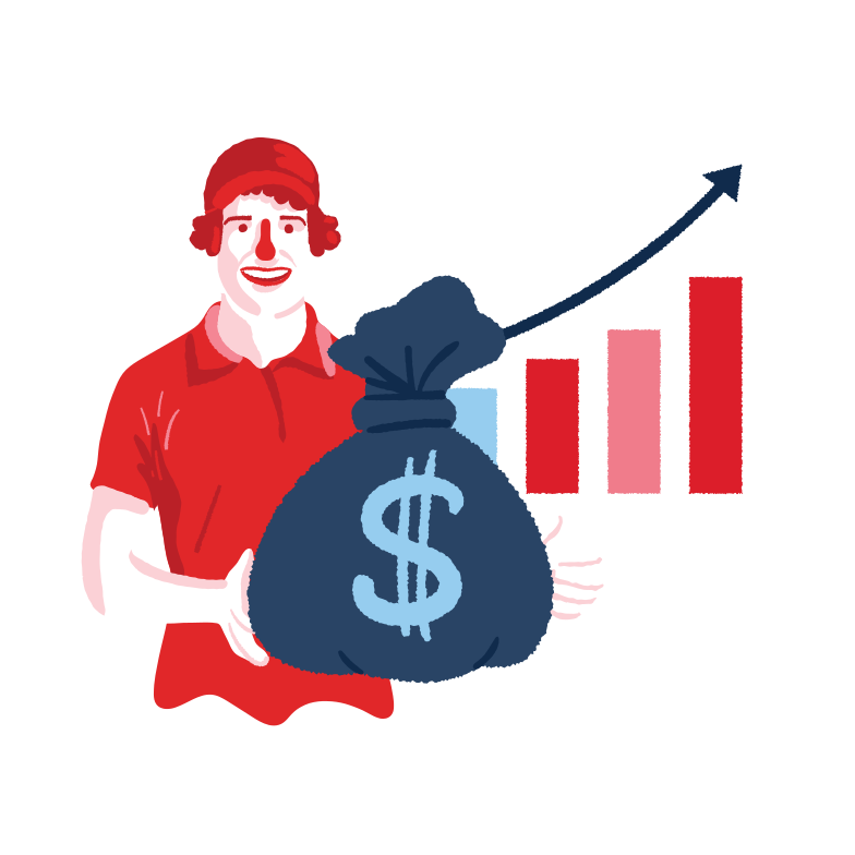 Growth chart Clipart illustration in PNG, SVG