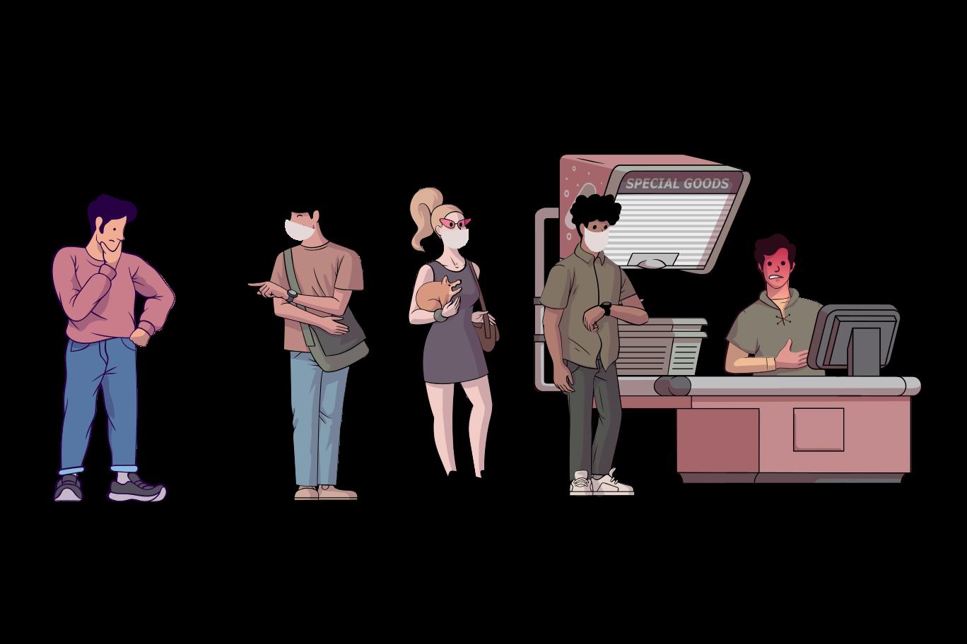 mantenha distância Clipart illustration in PNG, SVG