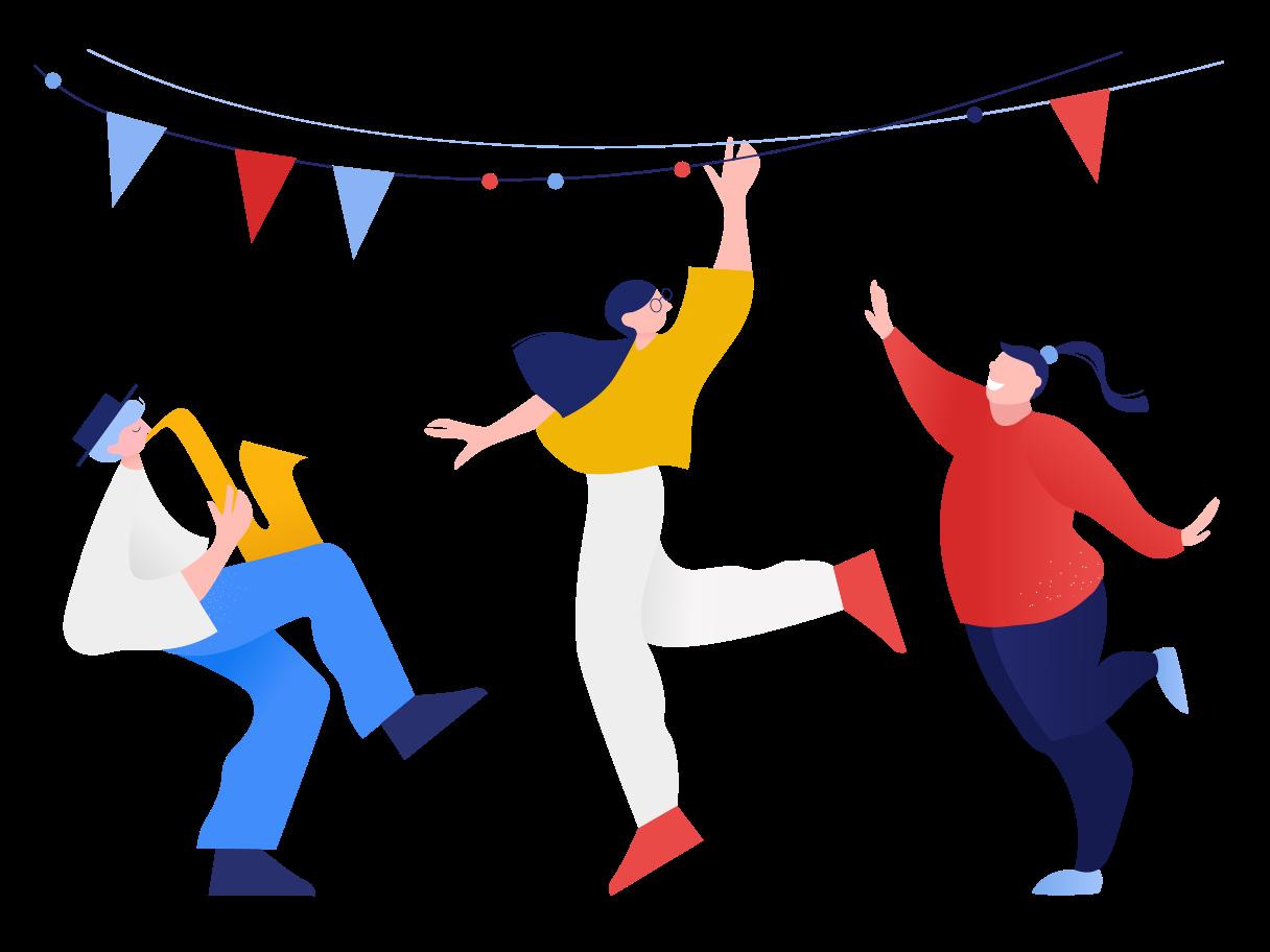 Let's party  Clipart illustration in PNG, SVG