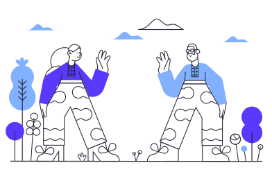 style Meeting of friends images in PNG and SVG | Icons8 Illustrations