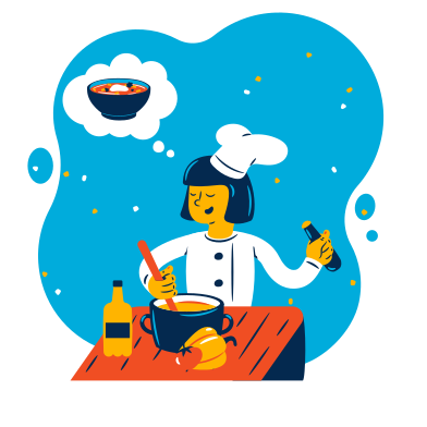 style Cook is making soup images in PNG and SVG | Icons8 Illustrations