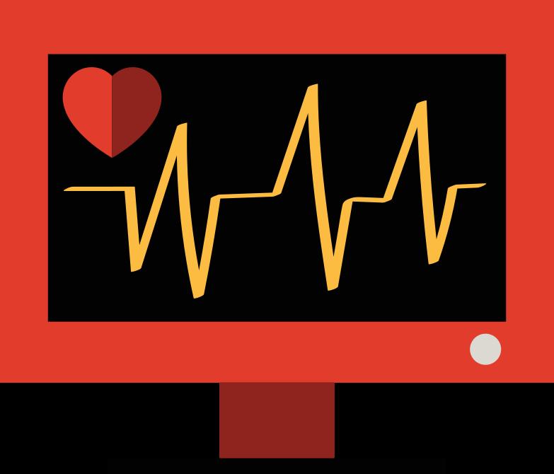 Herz monitor Clipart-Grafik als PNG, SVG