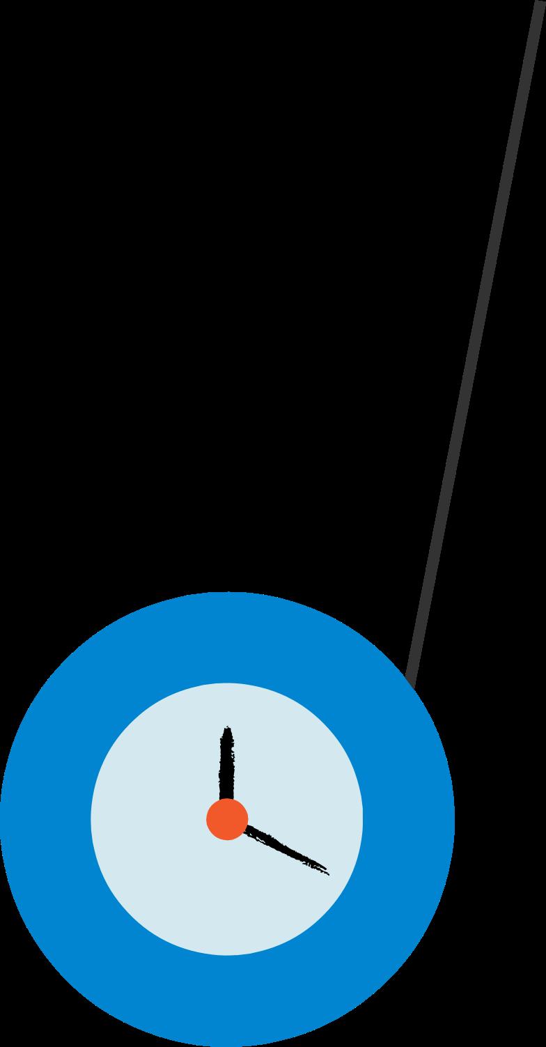 yo-yo clock Clipart illustration in PNG, SVG
