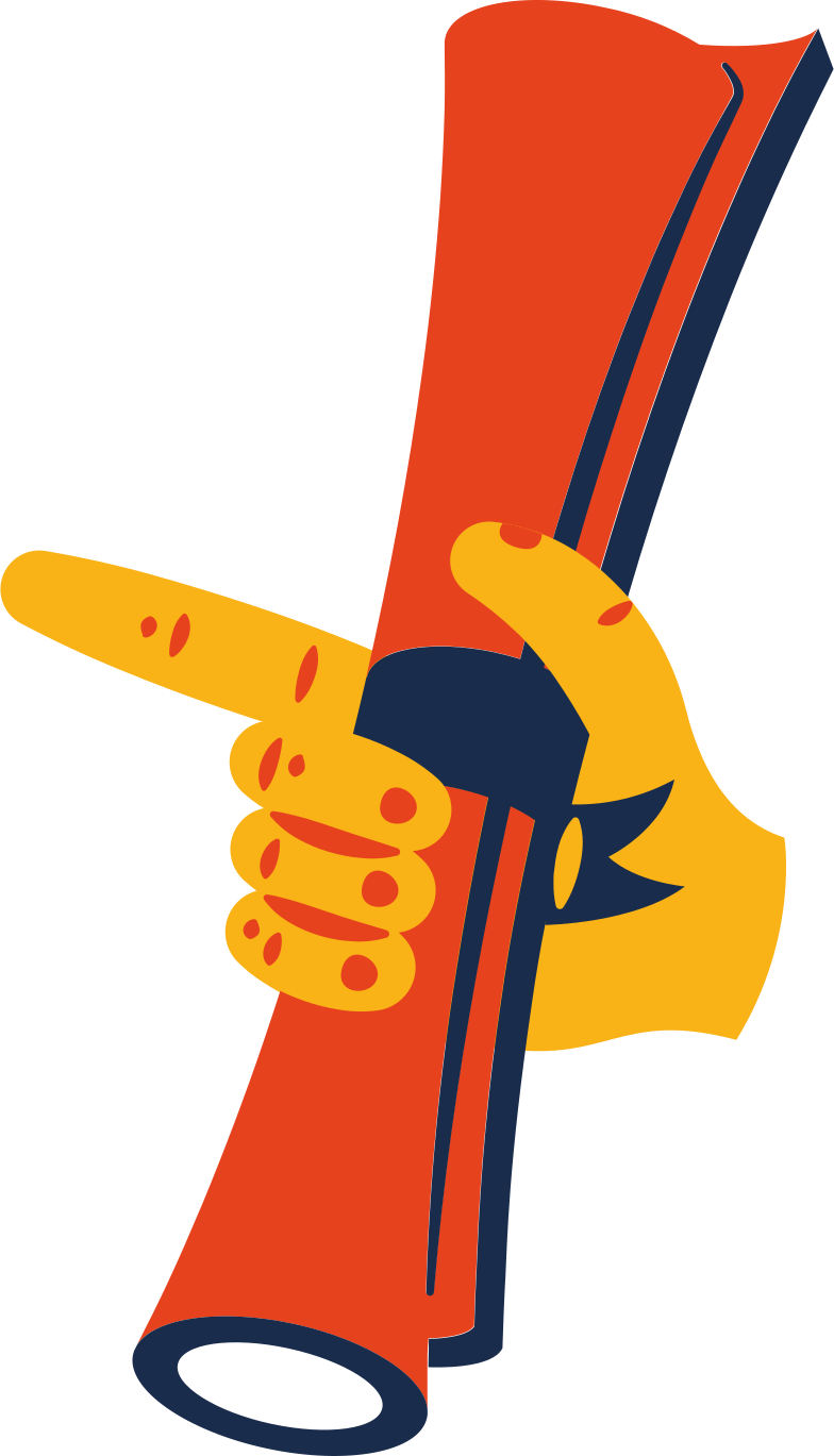 hand with scroll Clipart illustration in PNG, SVG