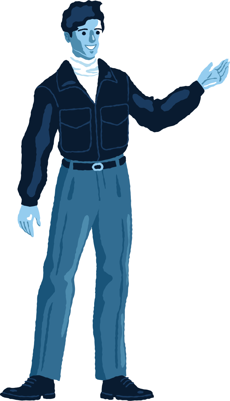 man standing front Clipart illustration in PNG, SVG