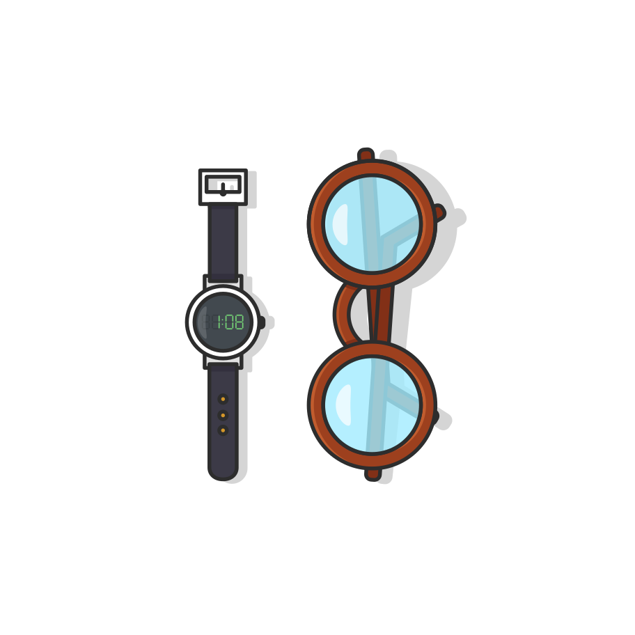 Watch spectacle Clipart illustration in PNG, SVG