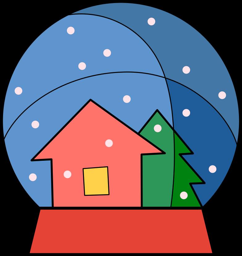 Ilustración de clipart de snow globe en PNG, SVG