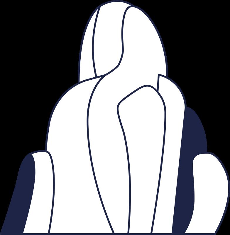 rock 3 line Clipart illustration in PNG, SVG