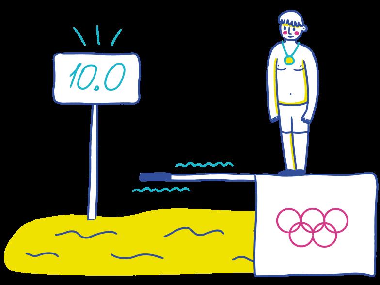 PNGとSVGの  スタイルの ダイビング ベクターイメージ | Icons8 イラスト