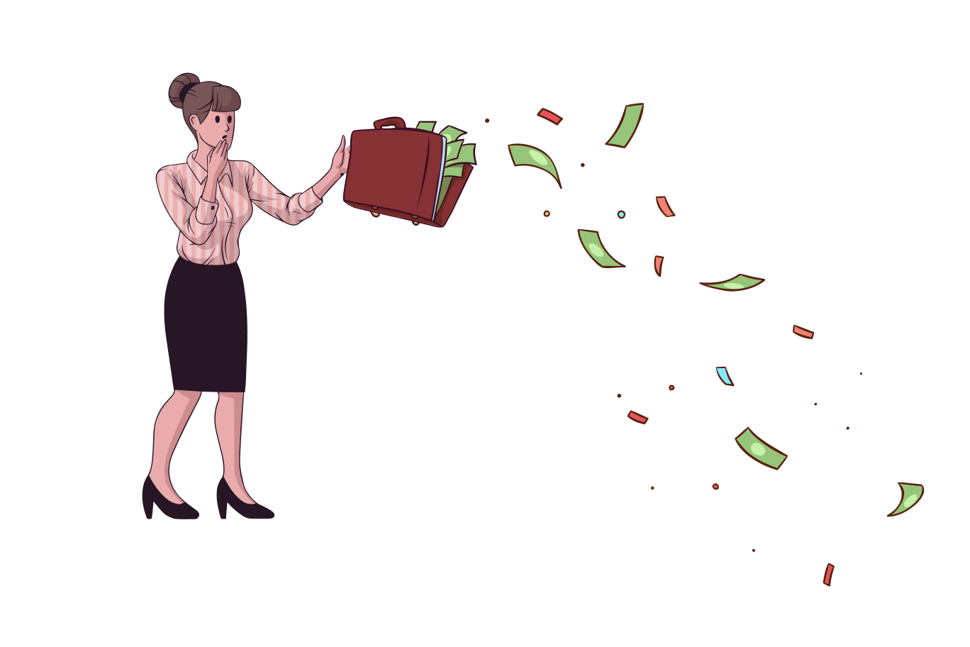 Money accident Clipart illustration in PNG, SVG