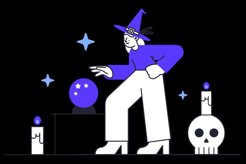 Клипарт Ведьма в PNG и SVG