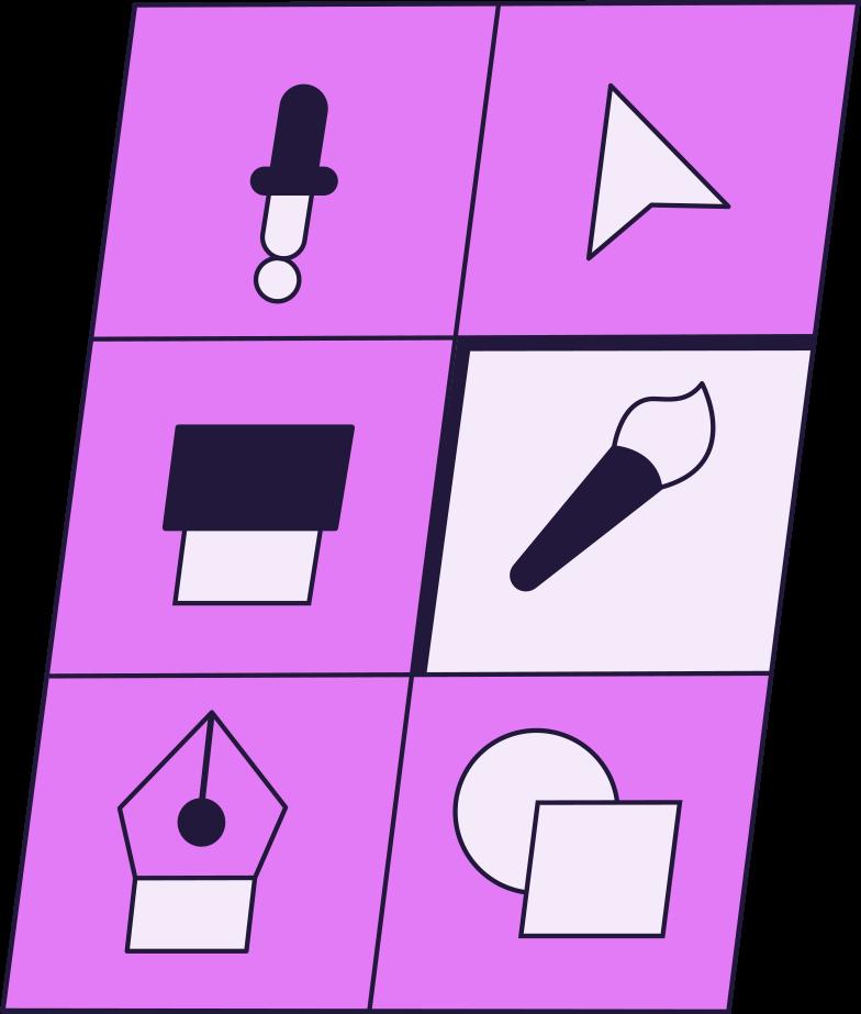 designe tools Clipart illustration in PNG, SVG