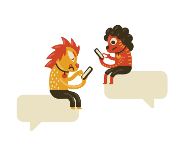 style Online conversation  images in PNG and SVG | Icons8 Illustrations