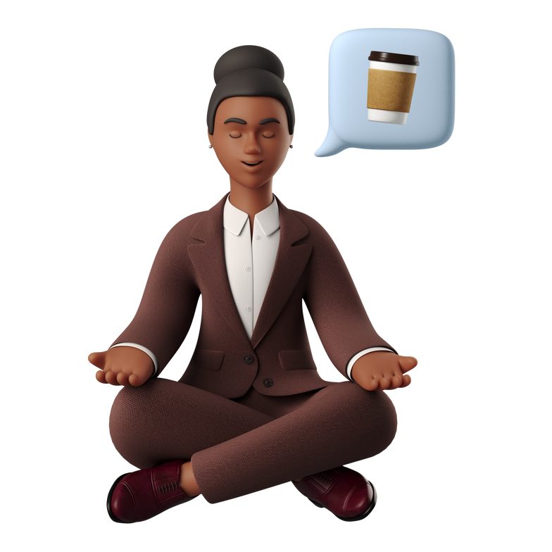 Coffee meditation Clipart illustration in PNG, SVG