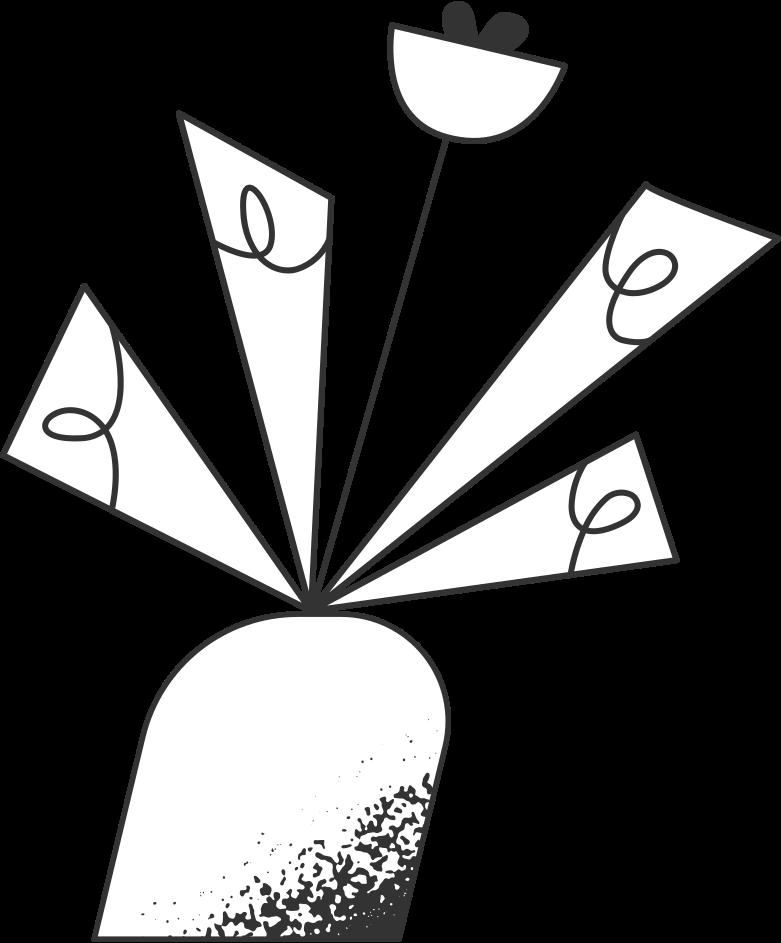 potted flower Clipart illustration in PNG, SVG